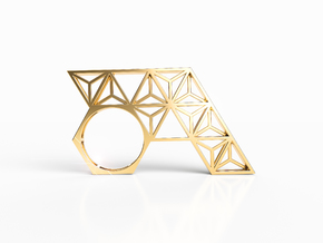 LAYER RING in Natural Brass: 8 / 56.75