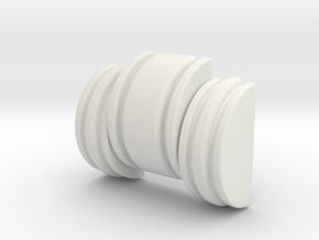 CT Chin Greeblie in White Natural Versatile Plastic