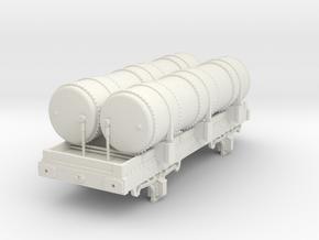 OO scale Metropolitan Railway Gas Tank in White Natural Versatile Plastic