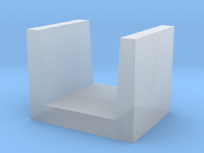 U-shaped Block concrete in Smooth Fine Detail Plastic