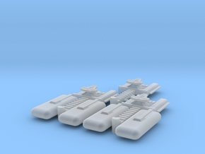 Transport Tug (3) in Smooth Fine Detail Plastic