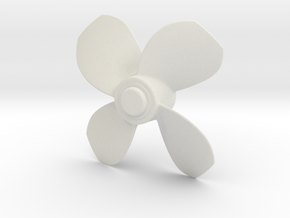 1/16 YTB Tugboat Propeller Right hand in White Natural Versatile Plastic