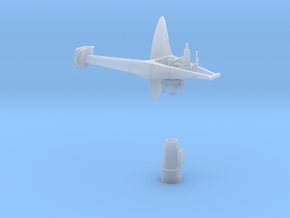 1:96 Scale AN/SPS-30 RADAR in Smooth Fine Detail Plastic