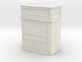 Carnival Ticket Booth 1/76 in White Natural Versatile Plastic