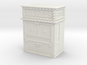 Carnival Ticket Booth 1/120 in White Natural Versatile Plastic