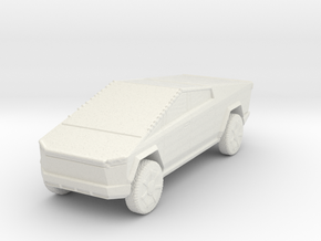 Tesla Cybertruck 1/100 in White Natural Versatile Plastic