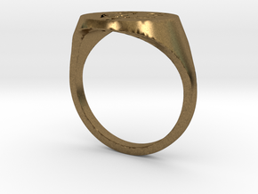 V's Ring in Natural Bronze