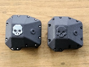 SCX10.3 III AR45 Ballistic Fabrications Diff Cover in Black PA12