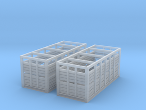 VR N Scale MC Container - Pair in Smooth Fine Detail Plastic