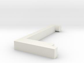 Left handle in White Natural Versatile Plastic