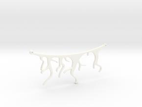 Roots Pendant in White Processed Versatile Plastic