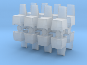Modern Plastic Chair (x16) 1/144 in Smooth Fine Detail Plastic