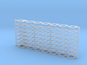 Window frames for Airfix Dakota in Smooth Fine Detail Plastic