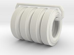 Firestone Tires set of 4 1?16 Scale in White Natural Versatile Plastic