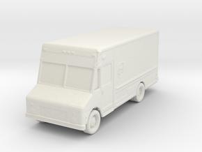 UPS Delivery Van 1/120 in White Natural Versatile Plastic