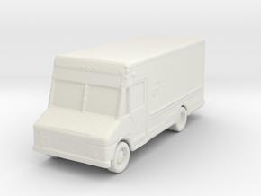 UPS Delivery Van 1/160 in White Natural Versatile Plastic