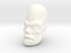 Lord Todd Monster Head in White Processed Versatile Plastic