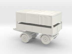 1/87 Trailer 3ton in White Natural Versatile Plastic