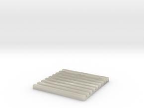 SCIFI Corridor Floor Grill in White Acrylic
