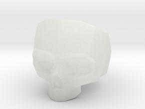 Lapidated Skull - Size 10 (inner diameter = 19.76  in Smooth Fine Detail Plastic