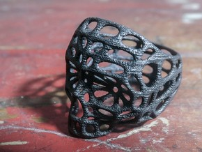 Hollow Skull - Size 10 (inner diameter = 19.76 mm) in Matte Black Steel