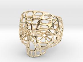 Hollow Skull - Size 10 (inner diameter = 19.76 mm) in 14K Yellow Gold