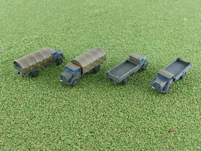 German MAN 630 5to Truck Cargo 1/285 6mm in Smooth Fine Detail Plastic