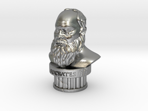 Socrates Bust in Natural Silver