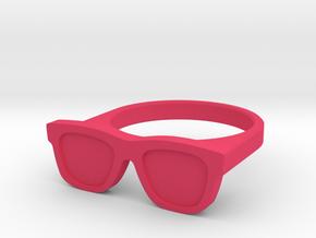 Glasses Ring in Pink Processed Versatile Plastic: 6.25 / 52.125