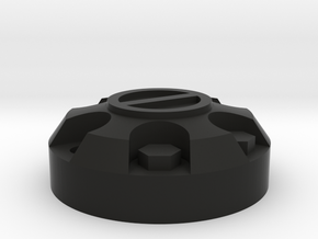 1/10 Tamiya Hilux wheel cap in Black Natural Versatile Plastic
