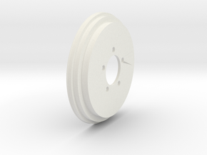 1/10 Willys Jeep tire wheel B in White Natural Versatile Plastic