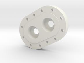 transmission case B in White Natural Versatile Plastic