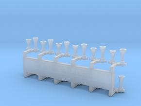 12 avertisseurs doubles de locomotive in Smooth Fine Detail Plastic