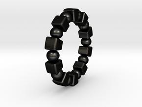 Claudette - Ring in Matte Black Steel: 6 / 51.5