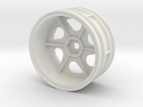 tamiya 2.2 astute left front wheel  in White Natural Versatile Plastic