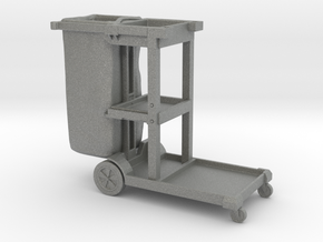 Cleaning Cart 01. 1:24 Scale  in Gray PA12