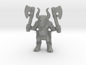 Beastman 28mm miniature classic 2 axes games rpg in Gray PA12