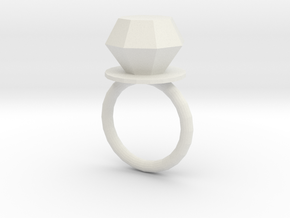 covid-19 ring in White Natural Versatile Plastic