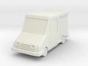 USPS Grumman LLV 1/100 in White Natural Versatile Plastic