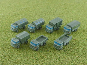 GDR IFA W-50 3to Truck Variants 1/285 in Smooth Fine Detail Plastic