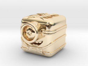 "Minion ""3D App Icon Stylized"" in 14K Yellow Gold"