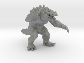 Krogadon kaiju monster 55mm miniature game fantasy in Gray PA12