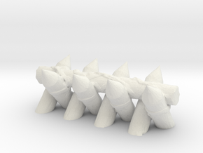 Spiked Barricade 1/35 in White Natural Versatile Plastic