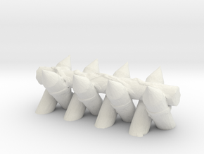 Spiked Barricade 1/24 in White Natural Versatile Plastic
