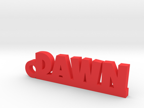 DAWN_keychain_Lucky in Red Processed Versatile Plastic