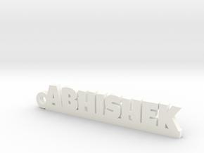 ABHISHEK_keychain_Lucky in White Processed Versatile Plastic