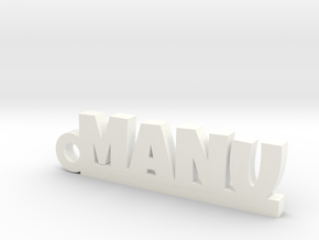 MANU_keychain_Lucky in White Processed Versatile Plastic