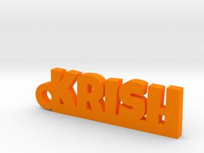 KRISH_keychain_Lucky in Orange Processed Versatile Plastic