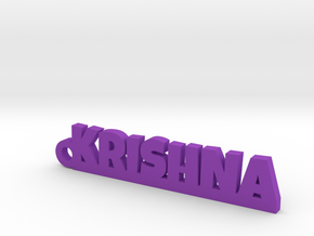 KRISHNA_keychain_Lucky in Purple Processed Versatile Plastic