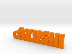 AYUSHI_keychain_Lucky in Orange Processed Versatile Plastic